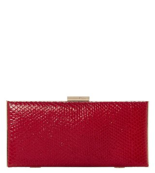 Dune London Red Barbe Clutch