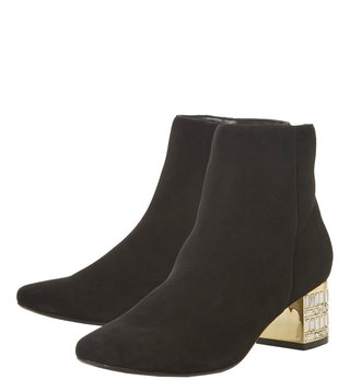 Dune London Black Onaa Booties