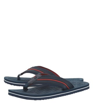 Dune London Navy Hughh Flip Flops