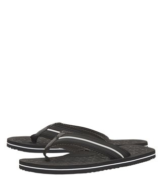 Dune London Black Hughh Flip Flops