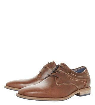 Dune London Tan Buckhurst Derby Shoes