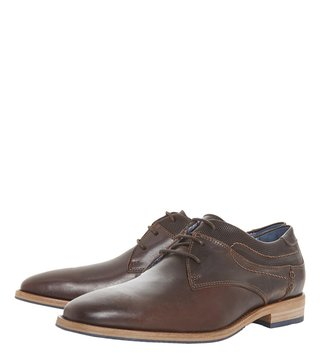 Dune London Brown Buckhurst Derby Shoes