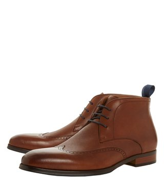 Dune London Tan Malone Chukka Boots