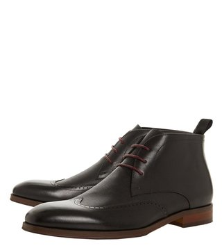 Dune London Black Malone Chukka Boots