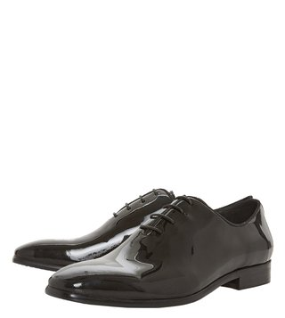 Dune London Black Pianos Oxford Shoes