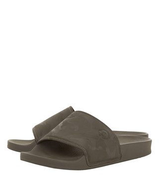 Dune London Khaki Heath Slides