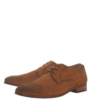 Dune London Tan Profile Derby Shoes