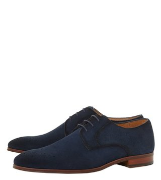 Dune London Navy Profile Derby Shoes