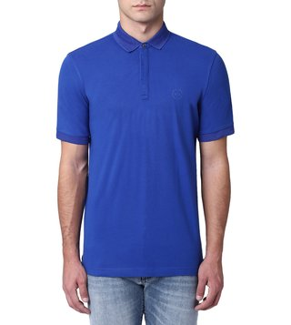 Armani Exchange Marine Surf The Web Cotton Polo T-Shirt