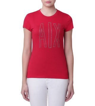 Armani Exchange Bloody Mary Studded Logo Classic T-Shirt