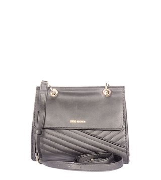 Steve Madden Bcecem Black Textured Quilted Sling Bag