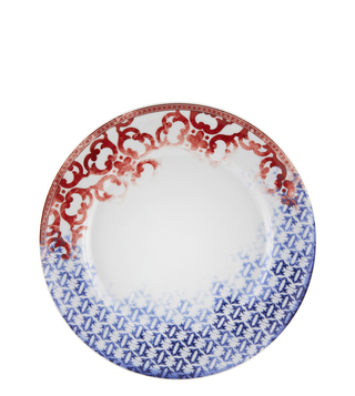 Vista Alegre Timeless White, Red, & Blue Porcelain 27.7 CM Dinner Plate