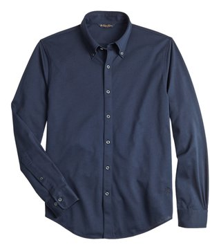 Brooks Brothers Navy Pique Slim Fit Shirt
