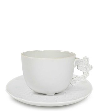Rosenthal White Weiss Ceramic Tea Cup & Saucer