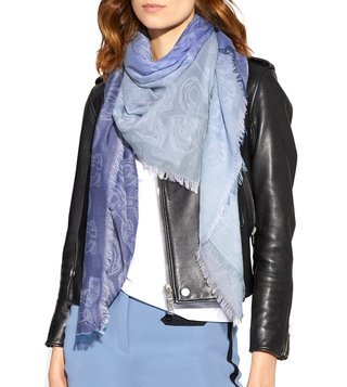 Coach Chambray Medium Cotton Signature Chain Printed Scarf