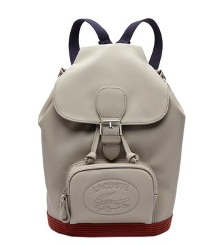 Lacoste Gray Peacoat Henna Women S Classic Large Logo Backpack