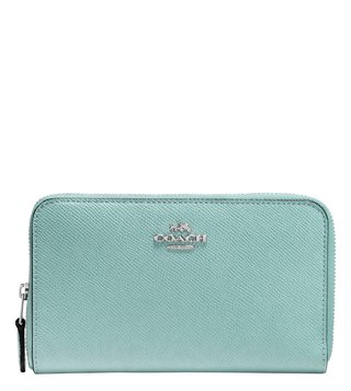 Coach Gunmetal Cypress Medium Zip Around Wallet
