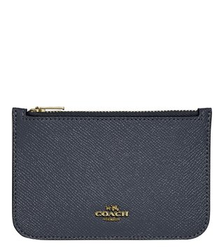 Coach Light Navy Mini Card Holder