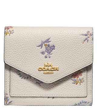 Coach Gold Chalk Small Floral Wallet