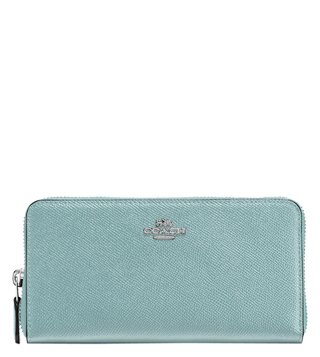 Coach Silver Mist Accordion Medium Zip Around Wallet