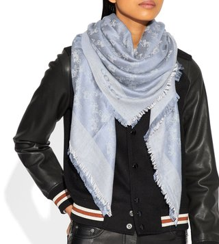 Coach Mist Medium Logo Scarf