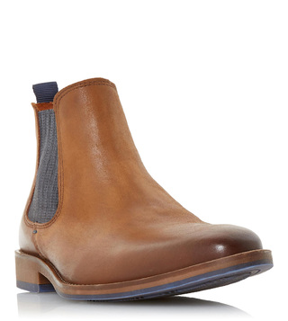 Dune London Tan Conor Chelsea Boots