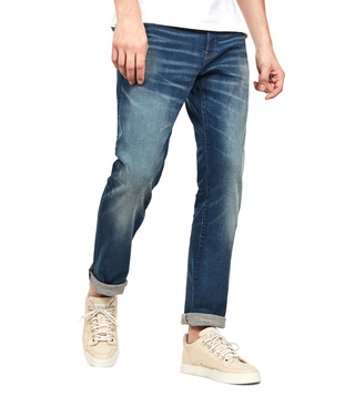 G-Star RAW Worker Blue Faded 3301 Straight Fit Jeans