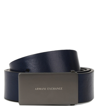 Armani Exchange Blue Waist Belt
