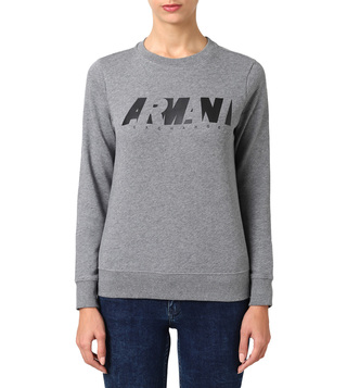 Armani Exchange Grey Classic Fit Logo Sweatshirt