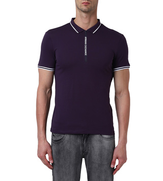 Armani Exchange Night Shade Slim Fit Polo T-Shirt