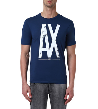 Armani Exchange Sargasso Sea Regular Fit Logo Crew T-Shirt