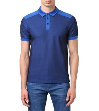 BOSS Medium Blue Regular Fit Palase Premium Polo T-Shirt