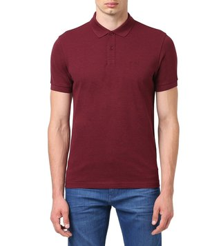 BOSS Dark Pink Regular Fit Piro Polo T-Shirt