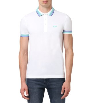 BOSS White Regular Fit Paddy Polo T-Shirt