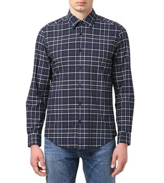 BOSS Dark Blue Regular Fit Lukas 53F Shirt