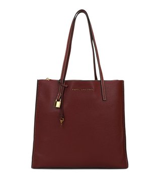 Marc Jacobs Burgundy The Grind Medium Tote