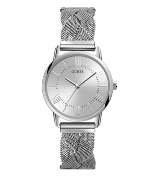 GUESS WW1143FLSWCL1 Silver Dial Watch for Women