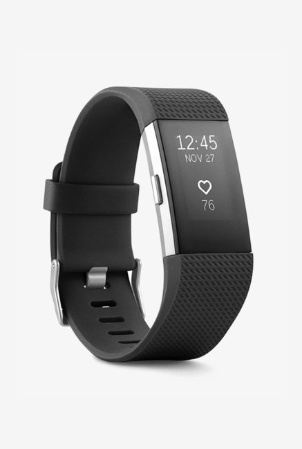 Fitbit Charge 2 Large Activity Wristband (Black/Silver)