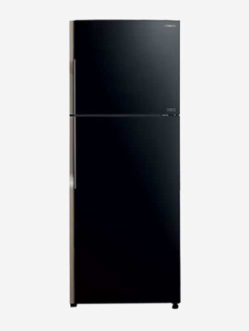 Hitachi 382L Inverter 2 Star 2019 Frost Free Double Door Refrigerator  Glass Black,R VG400PND3