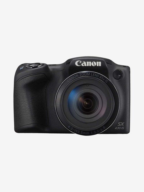 Canon PowerShot SX430 IS 20 MP Point   Shoot Camera 16 GB card + Charger + Carry Case  Black