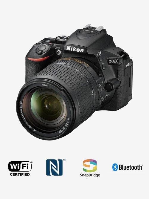 Nikon D5600  with AF S 18 140mm VR Kit Lens  24.2 MP DSLR Camera  Black