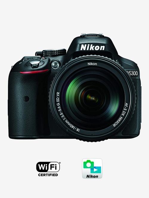 Nikon D5300 with  AF S 18 140mm VR Lens  DSLR Camera 16  GB Card + Carry Case  Black