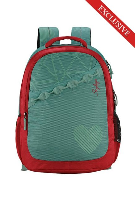 e782c846f92d Buy Skybags Bingo 02 Turquoise Green   Red Printed Backpack Online ...