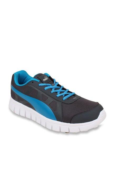42146086ad0 Buy Puma Blur V1 IDP Grey   Sky Blue Running Shoes for Men at ...
