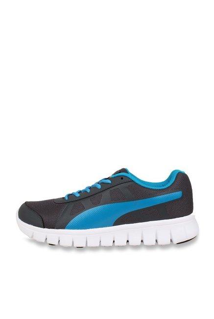best service 6c0eb 91e84 Buy Puma Blur V1 IDP Grey & Sky Blue Running Shoes for Men ...