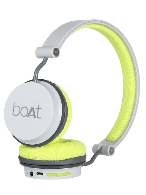 boAt Rockerz 400 T Wireless Headphone with Super Extra Bass  Up to 8H Playtime  Grey/Green