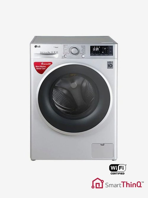 LG FHT1208SWL 8 kg Front Loading Fully Automatic Washing Machine (Luxury  Silver)