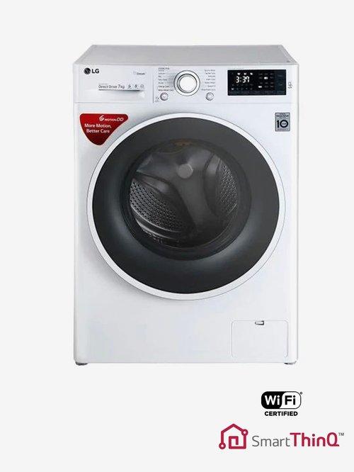 LG FHT1207SWW 7 kg Front Loading Fully Automatic Washing Machine (Blue White)