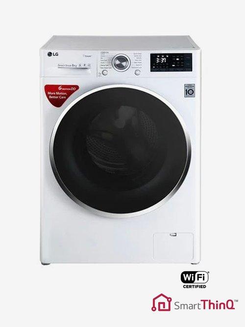 LG FHT1408SWW 8 kg Front Loading Fully Automatic Washing Machine (Blue White)