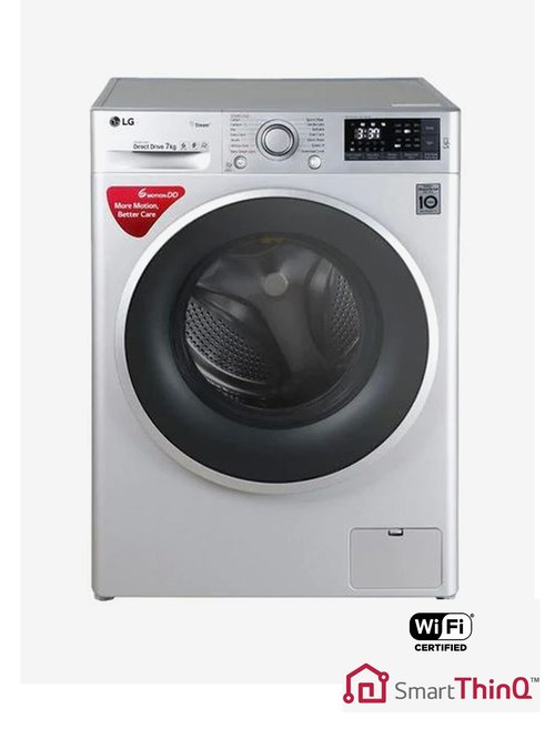 LG FHT1207SWL 7 kg Front Loading Fully Automatic Washing Machine (Luxury  Silver)
